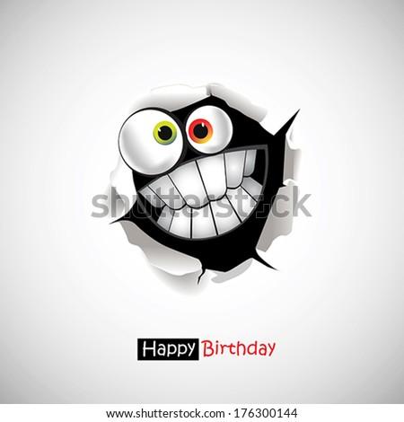 Happy Birthday smile greetings - stock vector