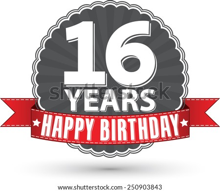 16th Birthday Stock Images RoyaltyFree Images Vectors