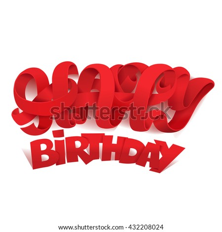 Happy birthday title lettering template
