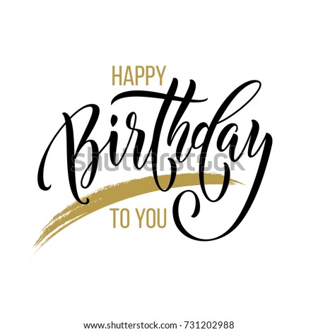 Happy Birthday You Vector Gold Glitter Vector 407381821 – Birthday Card Font