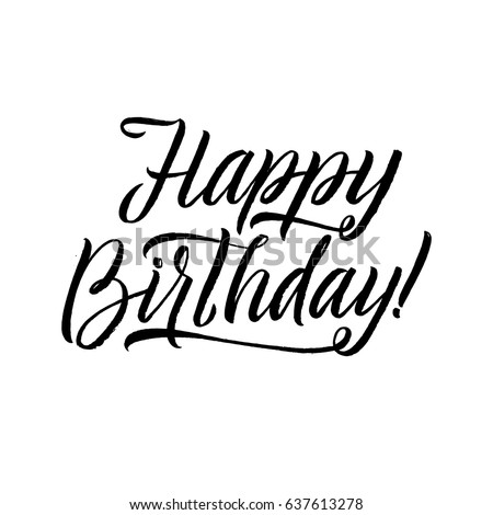happy birthday lettering handmade calligraphy happy birthday lettering stock images royalty free images 410