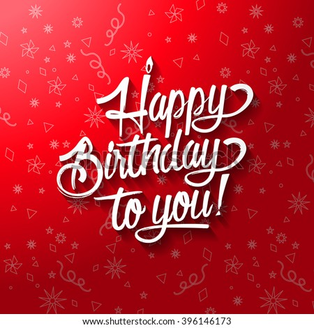 Happy Birthday Text Images RoyaltyFree Images Vectors – Happy Birthday Greetings Cards