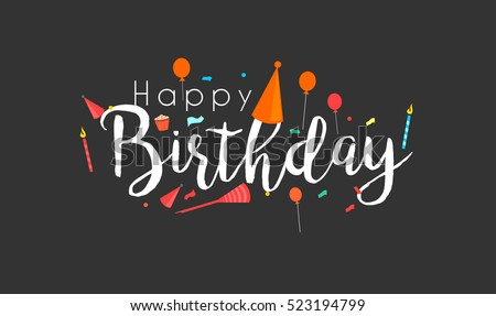 Happy Birthday Typographic Vector Design Greeting Stock Vector
