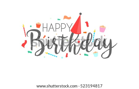 Happy Birthday Text Images RoyaltyFree Images Vectors – Text for Birthday Card
