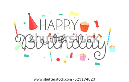 Happy birthday typographic vector design greeting stock vector happy birthday typographic vector design for greeting cards birthday card invitation card isolated stopboris Image collections