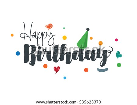 Happy Birthday Text Images RoyaltyFree Images Vectors – Birthday Text Greetings