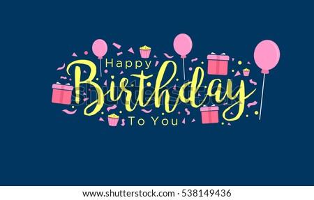 Happy birthday typographic vector design greeting stock vector happy birthday typographic vector design for greeting cards birthday card invitation card isolated stopboris Gallery