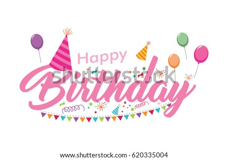 Modern Happy Birthday Card Illustration Birthday Vector – Text for Birthday Card