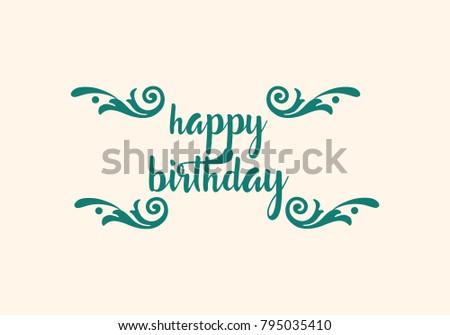Happy Birthday Design Vector ~ Happy birthday typographic vector design greeting stock vector