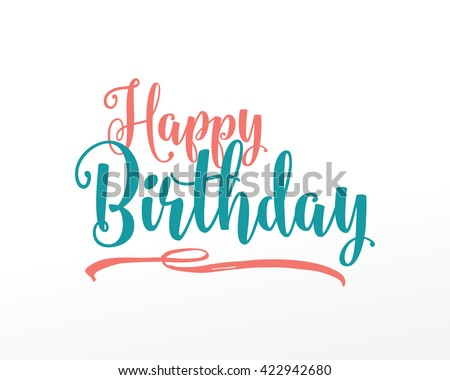 Happy Birthday typographic vector design for greeting cards, print and cloths. Isolated lettering composition. - stock vector