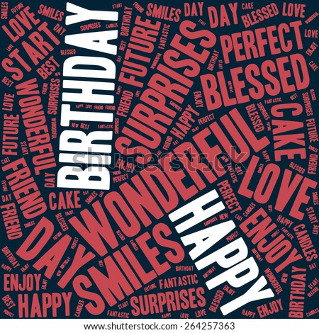 Happy Birthday typography seamless background pattern in vector