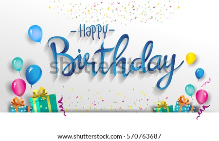 Happy Birthday Card Images RoyaltyFree Images Vectors – Greetings for Birthday Cards
