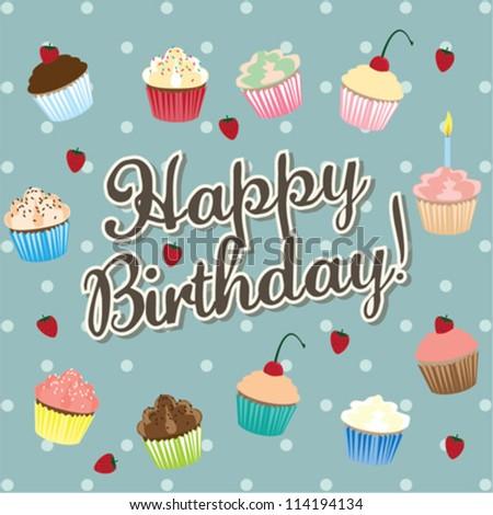 Happy Birthday! - vector birthday card - stock vector
