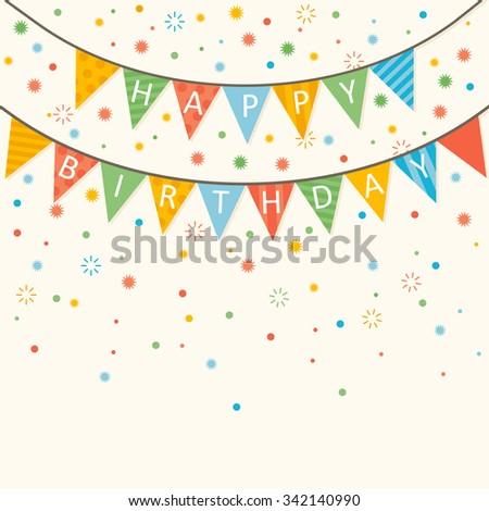 Happy Birthday - vector birthday card eps10 - stock vector
