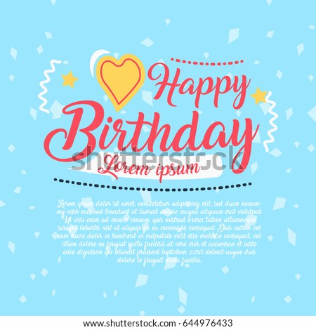 Happy birthday vector design greeting cards stock vector 644976433 happy birthday vector design for greeting cards birthday card invitation card stopboris Gallery