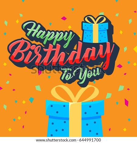 Happy birthday vector design greeting cards stock vector 644991700 happy birthday vector design for greeting cards birthday card invitation card stopboris Choice Image