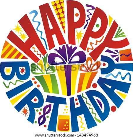 Happy birthday vector illustration - stock vector