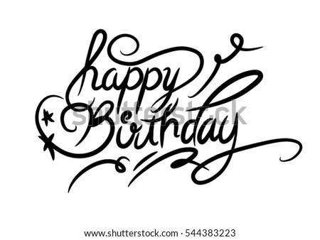 Happy Birthday Vector Illustration Stock Vector 544383223 ...