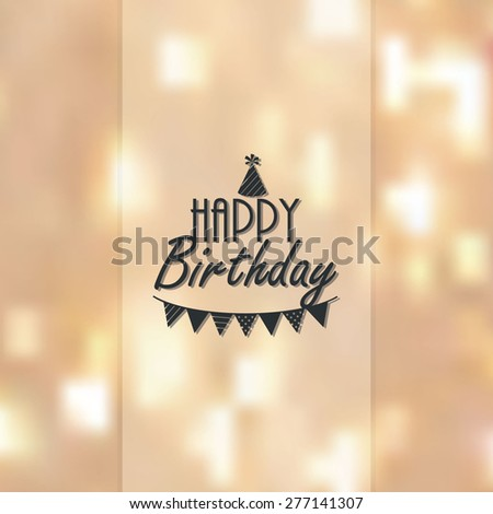 Happy birthday vector illustration with lights in background