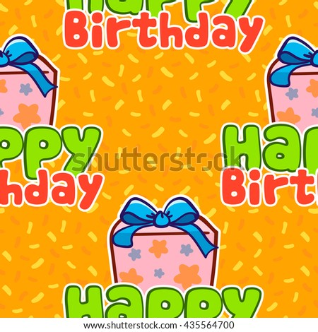 Happy Birthday vector pattern