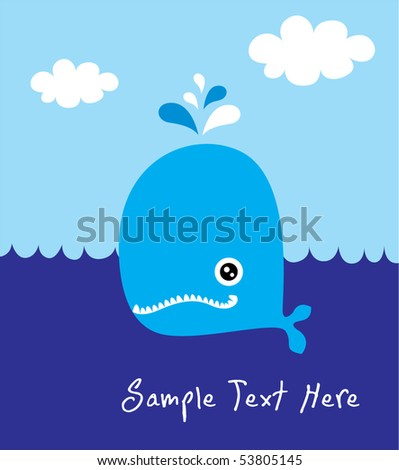 happy blue whale