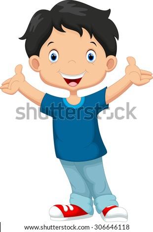 Happy boy cartoon - stock vector