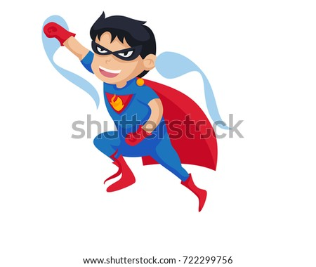 Happy Boy Wearing A Superhero Costume In Isolated Background Cartoon Illustration  sc 1 st  Shutterstock & Happy Boy Wearing Superhero Costume Isolated Stock Vector 722299756 ...
