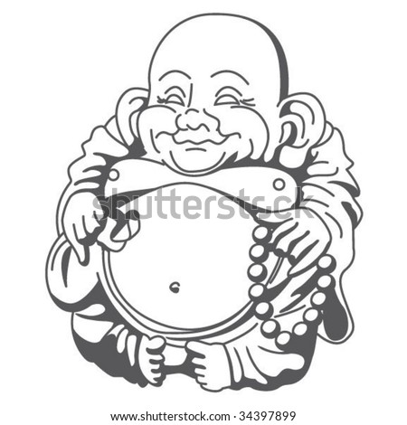 Happy Buddha Stock Vector