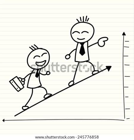 happy business vector - stock vector