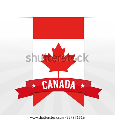 happy canada day canadian flag banner stock vector royalty free