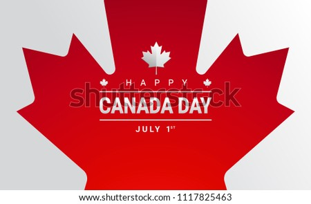 Happy canada day greeting card canada stock vector royalty free happy canada day greeting card canada maple leaf flag 151 years canada independence day m4hsunfo