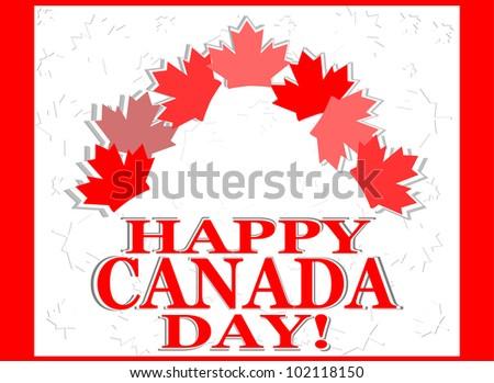 Happy Canada Day vector card - stock vector