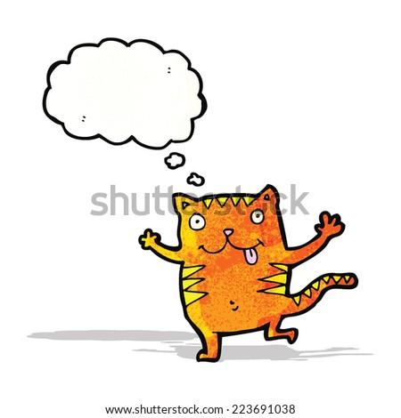 happy cartoon cat - stock vector