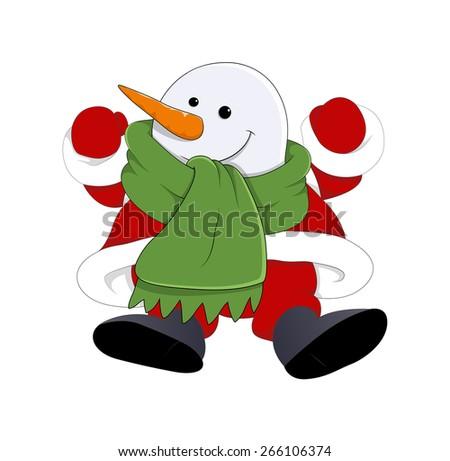 Happy Cartoon Santa - stock vector