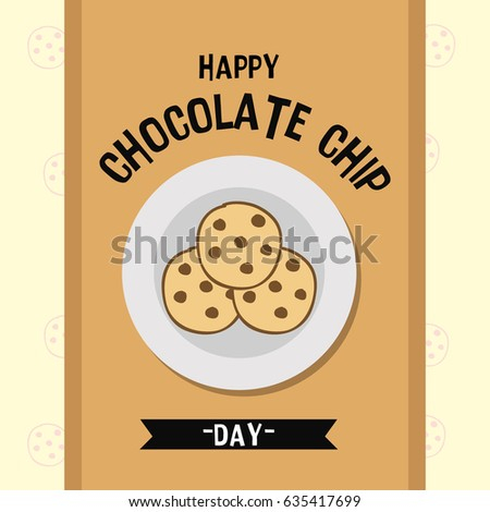 happy chocolate chip day suitable banner stock photo photo vector