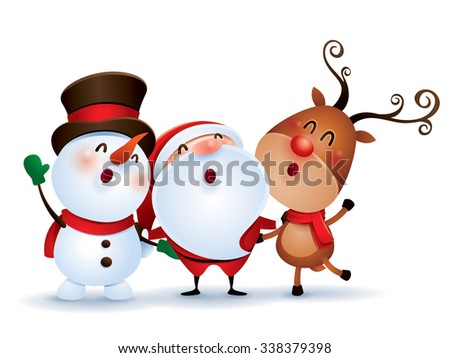 Happy Christmas companions - stock vector