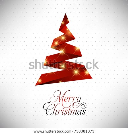Happy Christmas. Happy New Year. Merry christmas. Red X-mas with Yellow Glow on white background