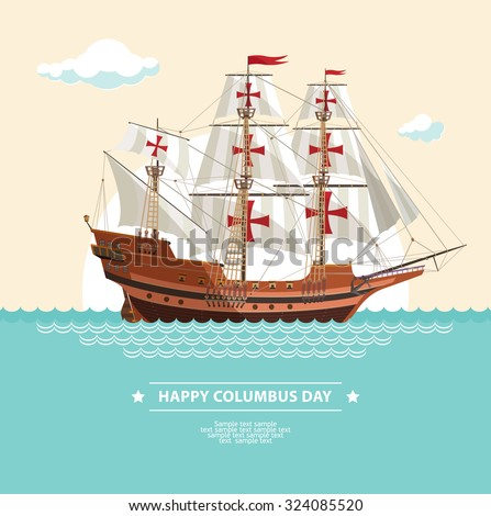 Happy Columbus Day  - stock vector