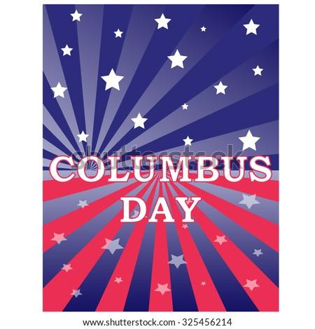 Happy Columbus Day celebrating - stock vector