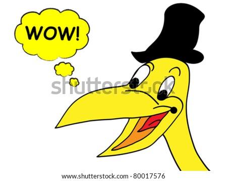 happy crow wow! - stock vector