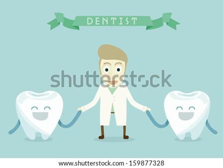 Happy dental - stock vector