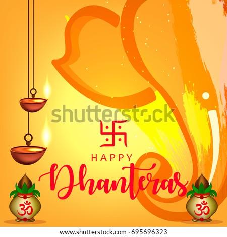 Happy dhanteras wallpaper design vector illustration stock vector happy dhanteras wallpaper design vector illustration m4hsunfo
