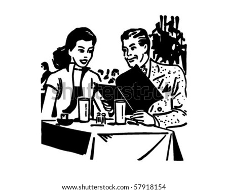Happy Diners - Retro Clip Art