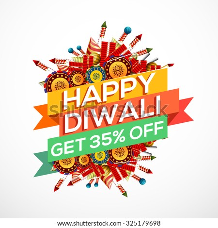 Happy Diwali creative illustration or flyer for Diwali festival. - stock vector