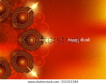 Happy Diwali elegant vector background design. - stock vector