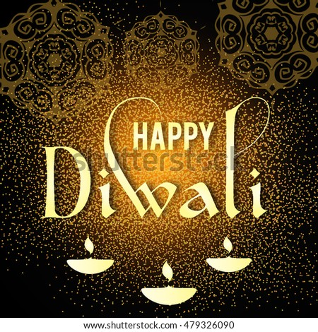 Happy diwali greeting card design beautiful stock vector 479326090 happy diwali greeting card design beautiful glowing typographic background can be used as poster m4hsunfo