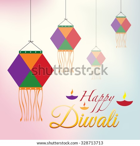 Happy Diwali Poster with Kandil