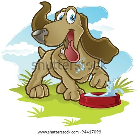 Happy Dog - stock vector