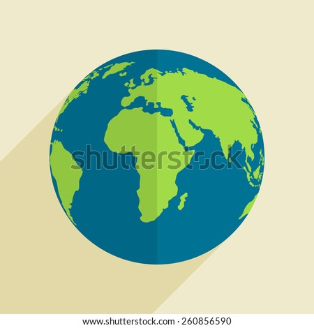 Happy Earth Day celebration with globe, can be used as poster, banner or flyer design. - stock vector