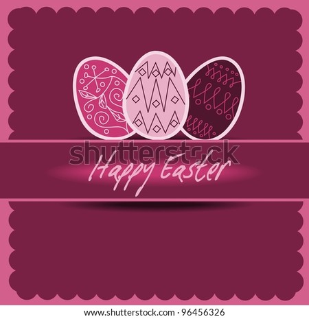 Happy Easter 2 - stock vector
